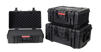 15 x 10.7 x 7 ID waterproof case, Black, with Pick and Pluck Foam